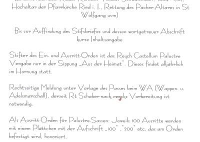 Stiftsbrief Schwabenthaler Ein- und Ausritt-Orden